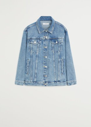 Oversize denim jacket - Women | Mango USA blue