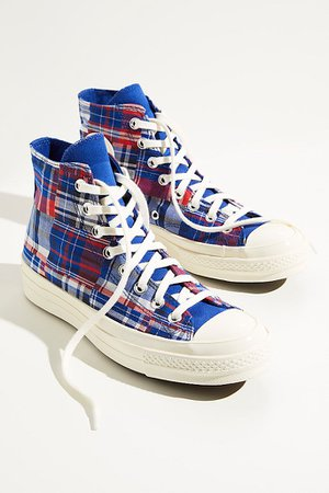 Chuck 70 Twisted Prep Patchwork Hi-Top Sneakers | Free People