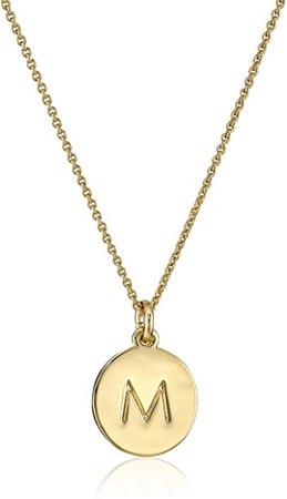 "Amazon.com: kate spade new york ""Kate Spade Pendants"" ""M"" Pendant Necklace, 18"": Jewelry"