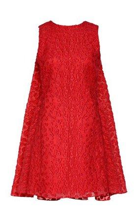 Leopard-Print Fil Coupé Crepe Mini Dress By Brandon Maxwell | Moda Operandi
