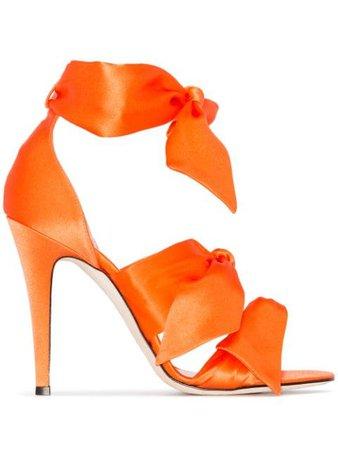 Orange Gia Couture Katia 120Mm Bow Sandals | Farfetch.com
