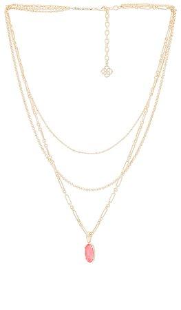 Kendra Scott Elisa Multi Strand Necklace in Iridescent Coral Illusion   REVOLVE