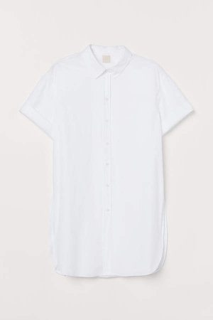 Long Cotton Shirt - White