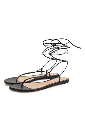 Женские черные кожаные сандалии GIANVITO ROSSI — купить за 47100 руб. в интернет-магазине ЦУМ, арт. G31714.05CU0.NAPNER0