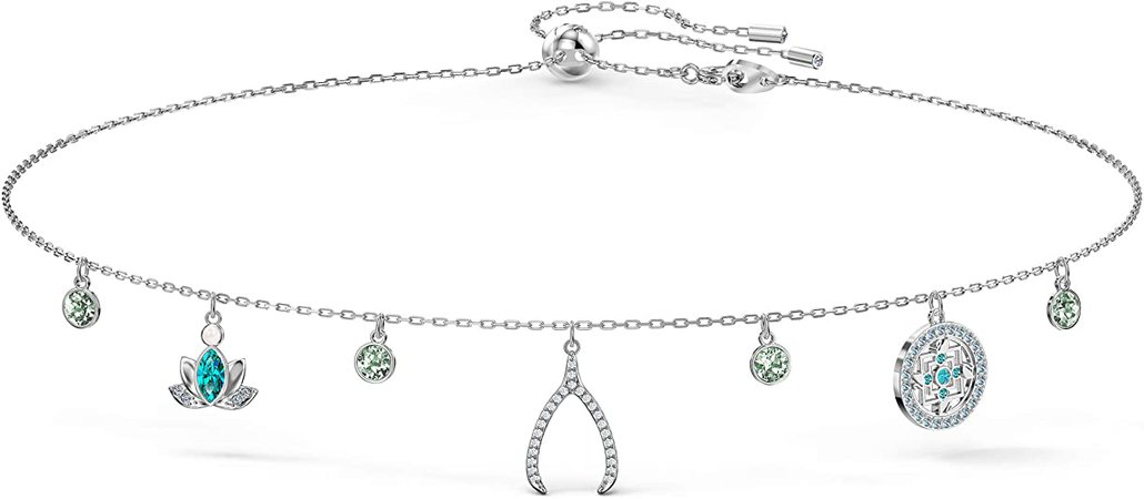 SWAROVSKI Women's Symbolic Charm Necklace, Light multi-colored, Rhodium plated: Jewelry