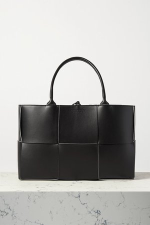 Intrecciato Leather Tote - Black
