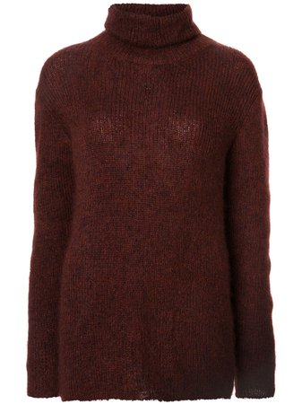 Chanel Pre-Owned Turtle Neck Jumper H8055 Red | Farfetch