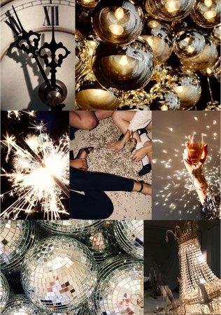 New Years Eve Moodboard (by alldressedupbutnowheretogo)
