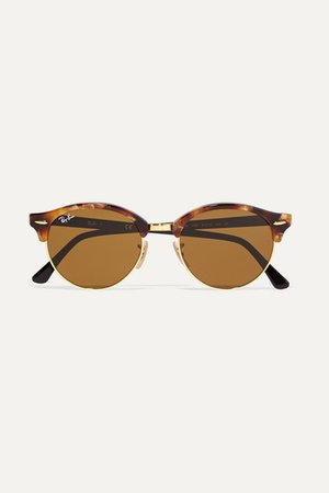 Ray-Ban | Clubround acetate and gold-tone sunglasses | NET-A-PORTER.COM