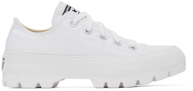 White Lugged Chuck Taylor All Star Sneakers