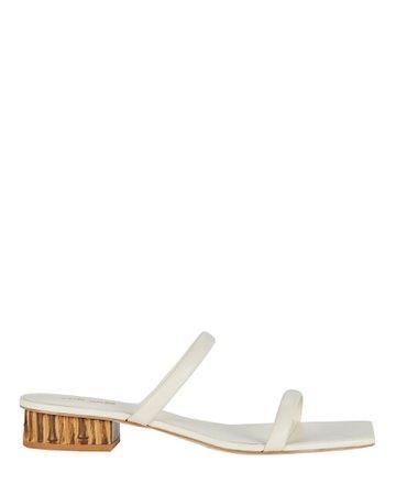 Cult Gaia Liz Leather Slide Sandals   INTERMIX®