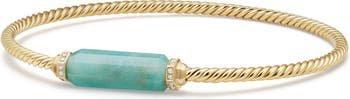 David Yurman Barrels Bracelet with Diamonds in 18K Gold | Nordstrom