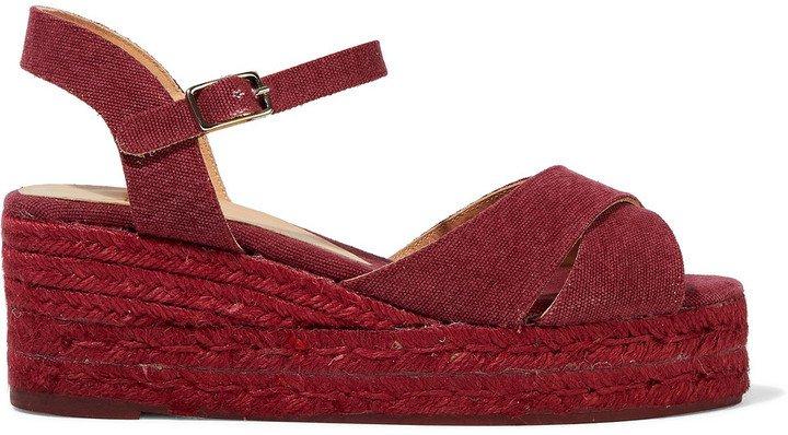 Blaudell Cotton-canvas Wedge Espadrille Sandals