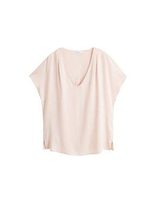 Violeta BY MANGO V-neckline blouse