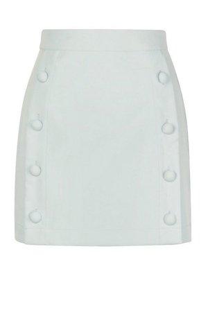 Button Front Tailored Mini Skirt   Boohoo
