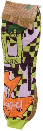 Matty Bovan - Knitted Abstract Jacquard Skirt - Womens - Multi