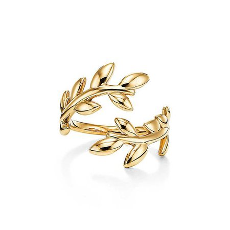 olive branch ring gold