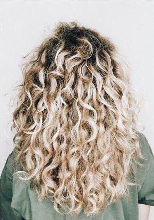 blond perm