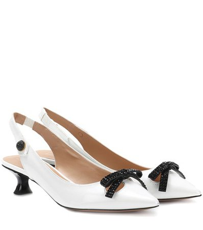 Abbey slingback leather pumps