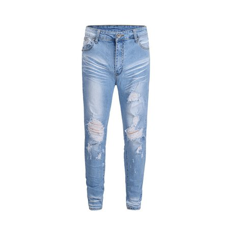 2018 Black Icon Blue Ripped Men Jeans