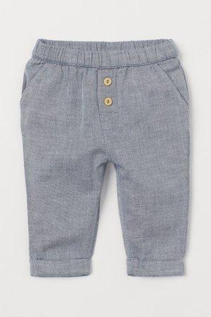 Cotton Pants - Blue/chambray - Kids   H&M US
