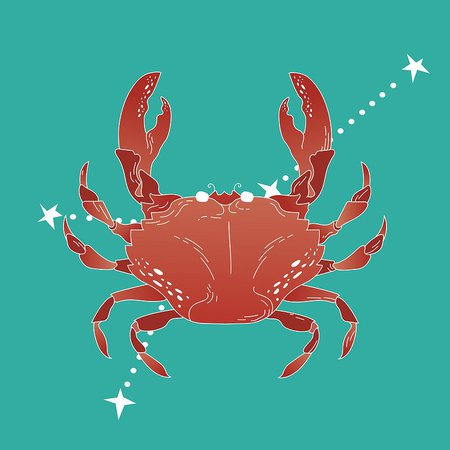 Cancer zodiac sign   Free stock vector   High Resolution design