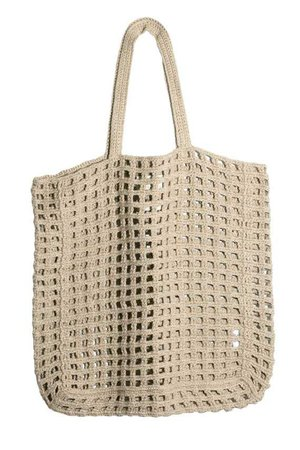 Lauren Manoogian - Natural Crochet Net Bag | BONA DRAG
