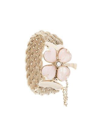 Goossens Trèfle Braided Bracelet GOH13BA005 Pink | Farfetch