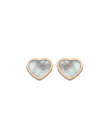 Chopard Happy Hearts Mother-of-Pearl Stud Earrings