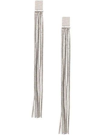 Brunello Cucinelli Beaded Fringe Earrings MORW9LE13CEMSW Silver | Farfetch