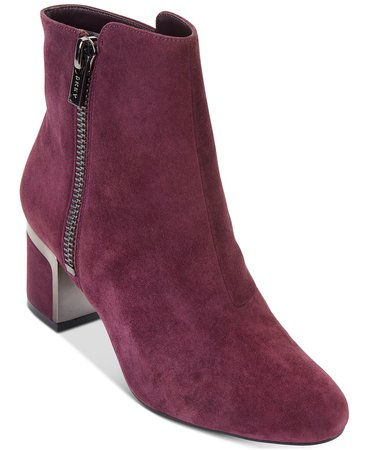 DKNY Crosbi Booties, Created For Macy's & Reviews - Boots - Shoes - Macy's burgundy