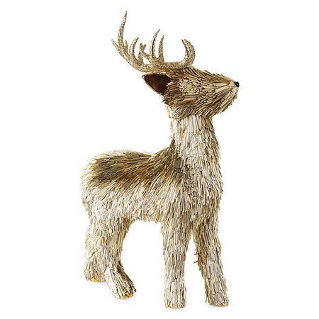 North Pole Trading Co. Gilded Nature Gold Reindeer Christmas Tabletop Decor