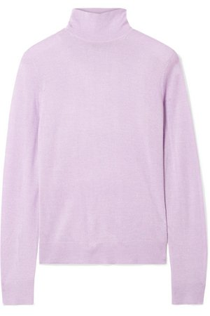 Theory | Foundation silk-blend turtleneck sweater | NET-A-PORTER.COM