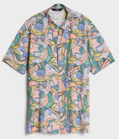 Bershka desenli gömlek