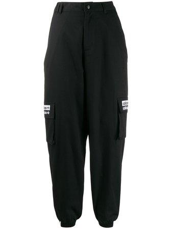 Adidas Logo Baggy Track Pants - Farfetch