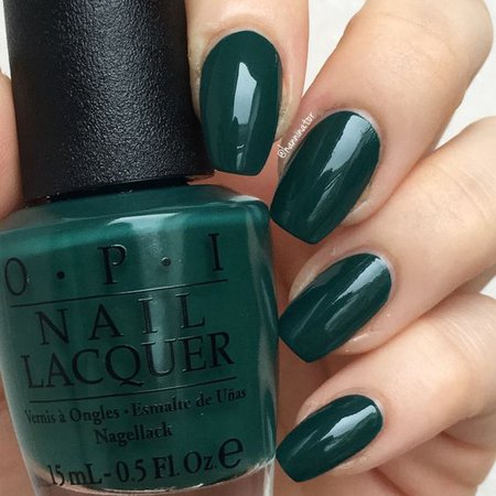 Dark Green Nails