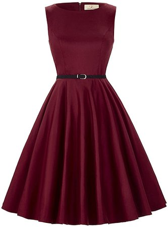 50's Vintage Dresses for Women with Belt Black Size L F-13 at Amazon Women's Clothing store