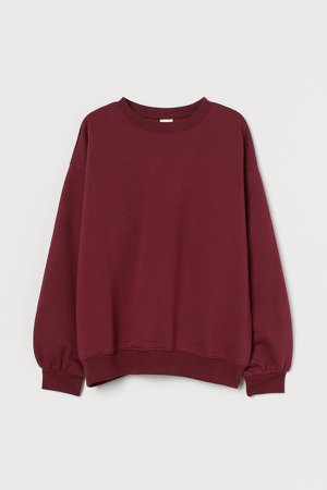 Cotton-blend Sweatshirt - Red