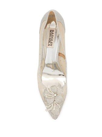 Badgley Mischka Gilda crystal-embellished pumps