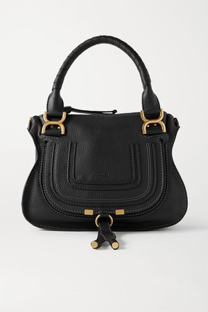 Black Marcie small textured-leather tote | Chloé | NET-A-PORTER