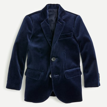 J.Crew: Boys' Ludlow Blazer In Velvet