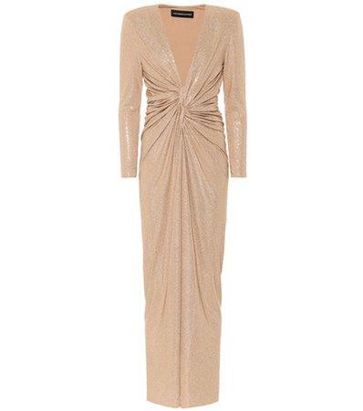 Crystal-embellished maxi dress