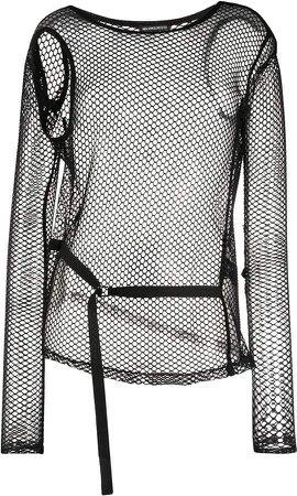 long-sleeve mesh top