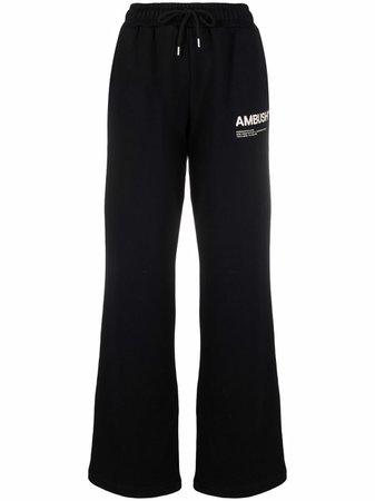 AMBUSH logo-print Fleece Track Pants - Farfetch