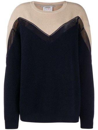 Stella McCartney two-tone Chevron Knitted Jumper - Farfetch