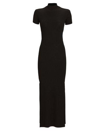 Anna October Rib Knit Turtleneck Dress | INTERMIX®