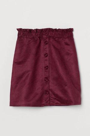Paper Bag Skirt - Red