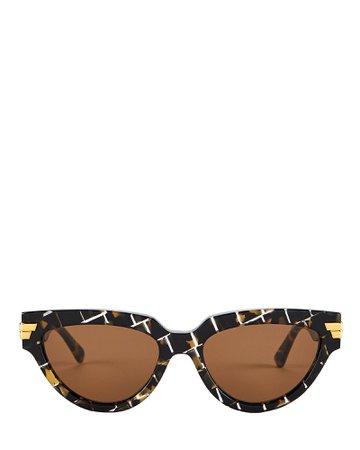 Bottega Veneta | Intrecciato Cat Eye Sunglasses | INTERMIX®