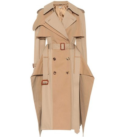 Deconstructed cotton trench coat