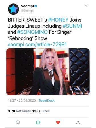 BITTER-SWEET Soompi Twitter (HONEY)